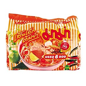 5 Packs - Mama Spicy Tom Yum Flavour Instant Thin Noodles Thailand by Mama
