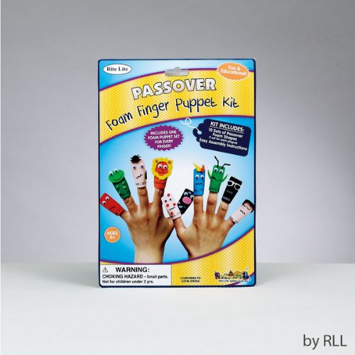 Ten Passover Plagues Foam Finger Puppet Kit