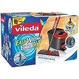 Vileda 133877 EasyWring UltraMat Set - UltraMat Bodenwischer mit Mikrofaserbezug + Rotationseimer mit Powerschleuder - kein Bücken, keine nassen Hände - bekannt aus TV