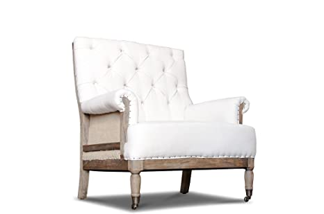 Linen retro armchair Edmond