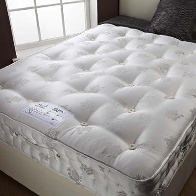 Happy Beds 1400 Silver Pocket Sprung Organic Mattress Bedroom Furniture Comfort