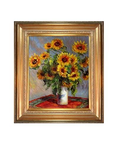 Claude Monet Sunflowers Framed Canvas