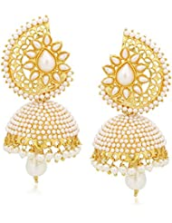 Jhumka Ear Rings For Girls Gold Plated Pearl Jhumki Earrings For Women By Amaal J0133