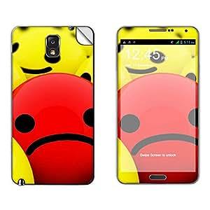 Skintice Designer Mobile Skin Sticker for Samsung Galaxy Note 3 N9000, Design - Smiley