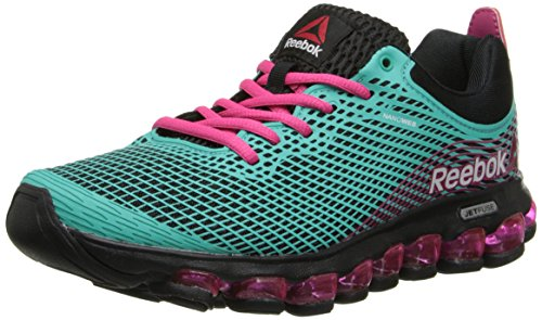 Reebok Women's ZJet Running Shoe,Teal/Black/Pink Fusion,9 M US