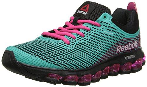 Reebok Women's ZJet Running Shoe,Teal/Black/Pink Fusion,9 M US Reebok B00GYOLQ5E