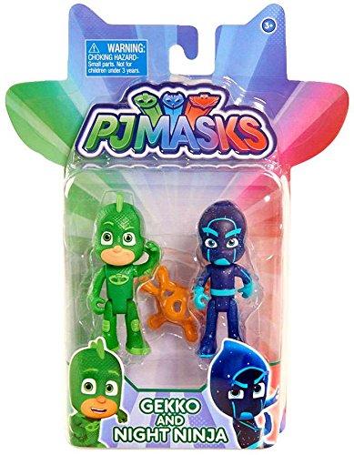 Disney Junior PJ Masks Gekko & Night Ninja Action Figure 2-Pack