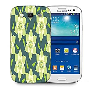 Snoogg Cream Floral Printed Protective Phone Back Case Cover For Samsung S3 / S III