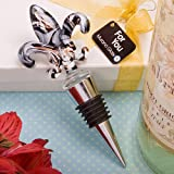 Fashioncraft Murano Collection Fleur De Lis Wine Bottle Stopper