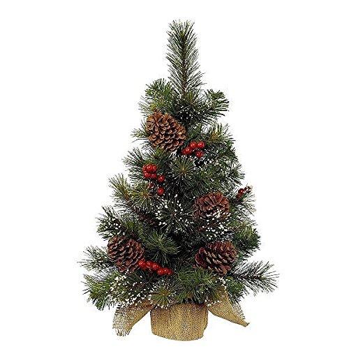 Kaemingk 681166 Minibaum mit Beeren, gefrostet, Hartnadel PVC, innen, Höhe 60 cm thumbnail