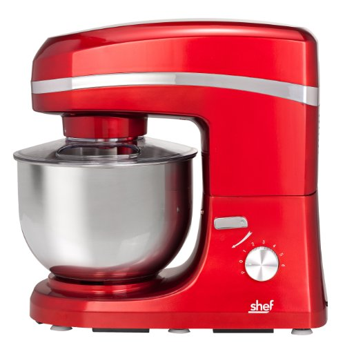 Mixers Reviews Shef 1000w Red Electric Food Stand Mixer