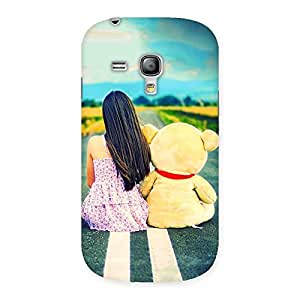 Gorgeous Teddy Girl Cute Multicolor Back Case Cover for Galaxy S3 Mini