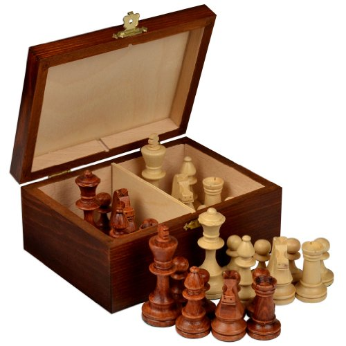 Staunton No. 4 Tournament Chess Pieces W/ Wood Box