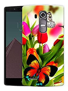 """Butterflies And Flowers Printed Designer Mobile Back Cover For """"LG G4"""" By Humor Gang (3D, Matte Finish, Premium Quality, Protective Snap On Slim Hard Phone Case, Multi Color)"""