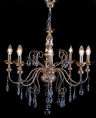 Starry Night® Golden Crystal Chandelier with 8 Arms