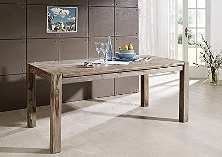Table à manger 120x90cm - Bois massif de palissandre huilé - NATURE GREY #502