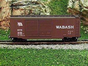 Micro Trains N 23130: 40' Standard Box Car, Double Doors, Wabash WAB #8130 (N Scale)
