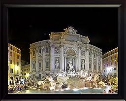 Trevi Fountain in Rome, Italy 8x10 Framed Photo