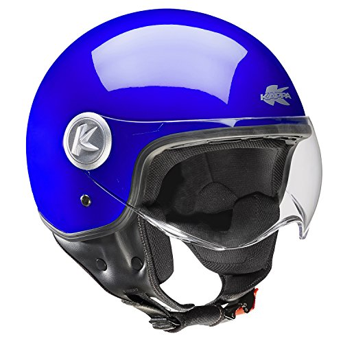 CASQUE JET MATT KV 20 RIO DARK BLU KAPPA NEW 2014 SIZE XL