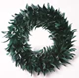 Zucker Feather Products Goose Coquille Wreath, 15-Inch Diameter
