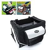 Petforu Pet Dog Bicycle Bike 600D Oxford Basket /Hand Carrier /Car Seat Easy Mounting