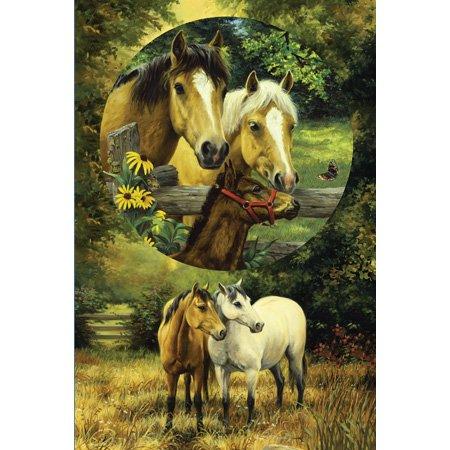 Cheap SunsOut Linda Picken Country Horses 625pc Jigsaw Puzzle (B001YK5RLW)