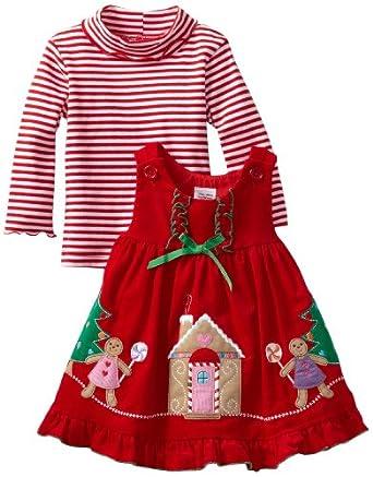 Good Lad Baby-Girls Infant 2 Piece Jumper Set, Red, 18