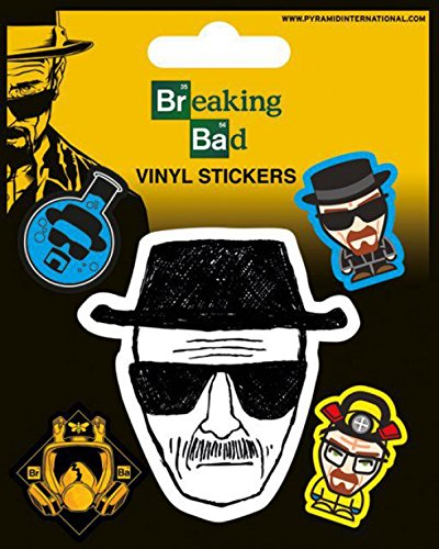 Breaking Bad - Heisenberg, Vinyl Sticker Set Sticker Adesivo (12 x 10cm)