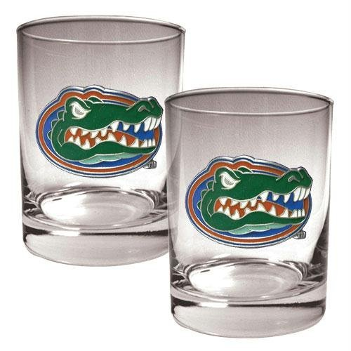 NCAA Florida Gators Two Piece Rocks Glass Set