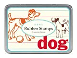 Cavallini 3 Assorted Rubber Stamps Sets, Dogs