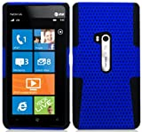 """myLife (TM) True Royal Blue and Electric Matte Black Perforated Mesh Series (2 Layer Neo Hybrid) Slim Armor Case for the Nokia Lumia 920 920.2 920T and 920 4G Camera Smartphone by Microsoft (External Rubberized Hard Shell Mesh Piece + Internal Soft Silicone Flexible Gel + Lifetime Warranty + Sealed in myLife Authorized Packaging) """"ADDITIONAL DETAILS: This mesh armor case was designed exclusively for the Nokia Lumia 920 and comes with easy grip gel that allows the case to be gripped firmly in your hand yet slide easily in and out of your pocket without sticking to the lining."""""""