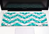 "TopCase Chevron Zig-Zag Silicone Keyboard Cover Skin for Macbook 13"" Unibody / Macbook Pro 13"" 15"" 17"" with or Without Retina Display / Wireless Keyboard + Topcase Mouse Pad (AQUA BLUE)"