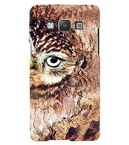 Printvisa Premium Back Cover Brown Owl Design For Samsung Galaxy A3::Samsung Galaxy A3 A300F