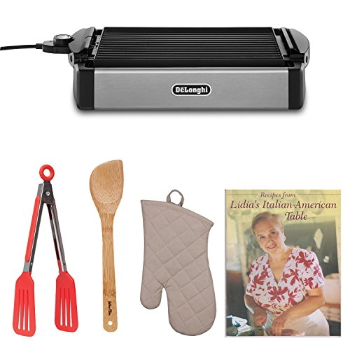 De'Longhi Bgr50 Reversible Grill/Griddle With Cookbook And Kitchen Accessories