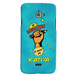 ColourCrust Infocus M350 Mobile Phone Back Cover With Designer Ka Haath Katiya Quirky - Durable Matte Finish Hard Plastic Slim Case