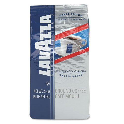 Ideal for filter and drip coffee machines. - LAVAZZA * Filtro Classico Italian House Blend Coffee, 2.25oz Fraction Packs, 30/Carton