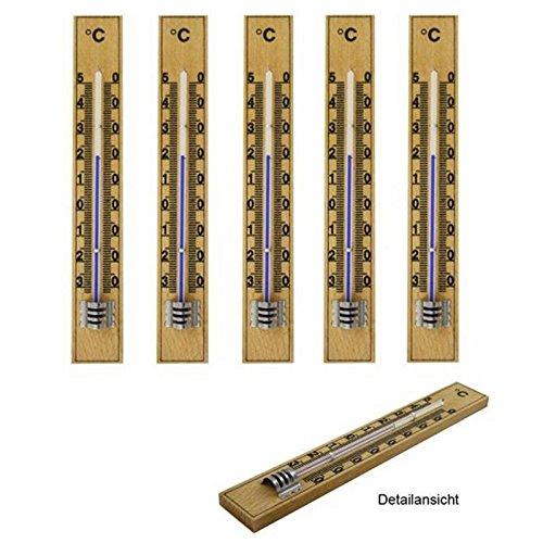 5-stuck-set-lantelme-holz-buche-analog-innen-aussen-thermometer-