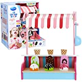 Ice Cream Shop By Svan - All Natural Wooden Toy Includes 9 Ice Cream Pieces Scooper And The Shop For An Interactive...