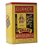 Quaker Oats Metal Cereal Storage Tin (Size : 17cm long by 10cm wide by 24cm high.) by Sweet and Nostalgic