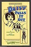 """London Cast """"DAISY PULLS IT OFF"""" Andrew Lloyd Webber 1983 Advertising Flyer"""