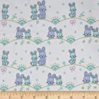 Michael Miller Cynthia Rowley Oh Baby Flannel Bunny Scallop Blue Fabric