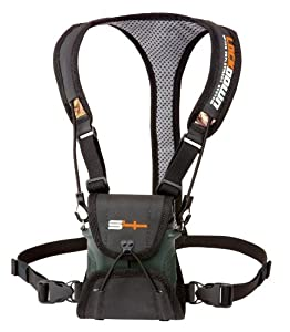 S4Gear LockDown Binocular Harness (Black) for use with binoculars by Leupold,Nikon,Swarovski,Bushnell,Canon etc