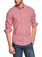 Ben Sherman Camisa Hombre Ls Gingham (Rojo / Blanco)