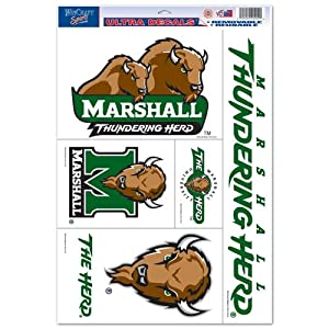 Buy Marshall Thundering Herd Official NCAA 11x17 Car Window Cling Decal by WinCraft