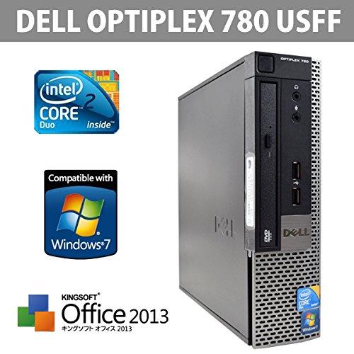 Office2013搭載 中古パソコン 大人気 DELL OPTIPLEX 780USFF CPU Core2 2.93GHz 大容量高速メモリDDR3 4GB Windows7Pro 64bit リカバリ DtoD領域有