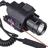 Tuofeng CREE LED Flashlight+Red Laser/Sight fit 4 gun Glock 17 19 22 20 23 37 hunting