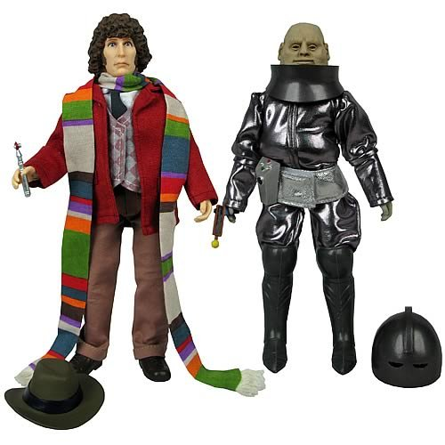 Doctor Who Fourth Doctor And Sontaran Major Styre Figures (Set Of 2)
