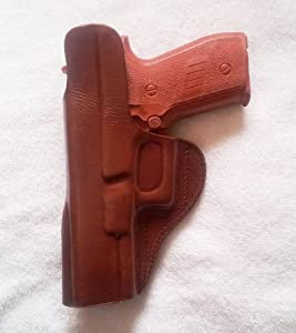 INSIDE THE WAISTBAND HOLSTER. FITS GLOCK 21. BROWN LEFT HANDED
