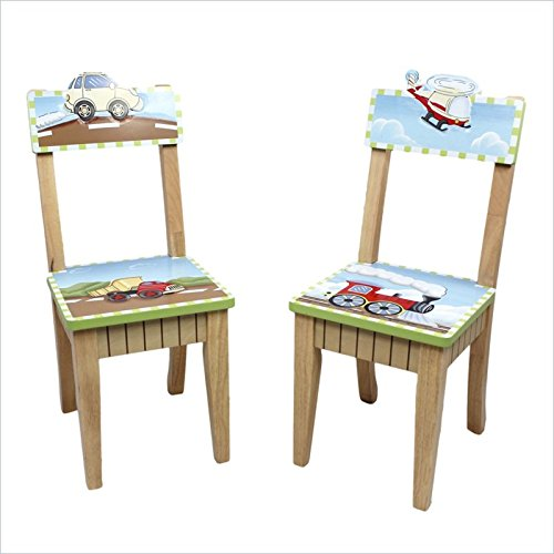 Wooden High Chair And Table