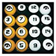 Hood Leather Goods University of Iowa Billiard 16-ball Numbered Set
